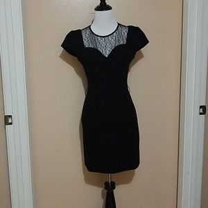 Guess Los Angeles black dress with lace neckline